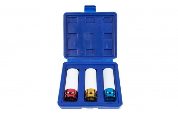 BlueSpot 3 Piece 1/2 Dr Alloy Wheel Impact Sockets 17, 19 and 21mm 01545