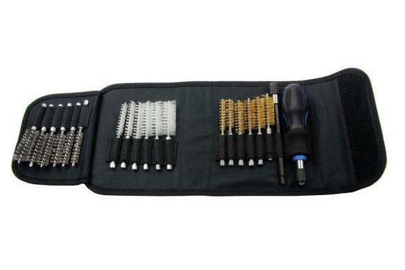US PRO Tools 20pc Assorted Spiral Detail Brush Cleaning Set 7018