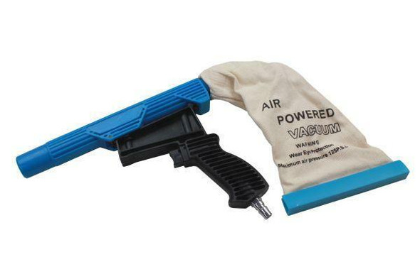 US PRO Tools Air Powered Light weight Vacuum Gun, 30mm Nozzle With Reusable Dust Bag 8788
