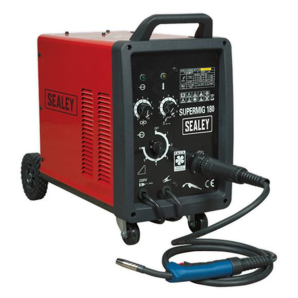 Sealey Professional MIG Welder 180A 230V with Binzel Euro Torch - SUPERMIG180