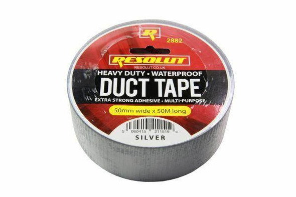 RESOLUT SILVER DUCT TAPE 50MM X 50 MTR ROLL 2882