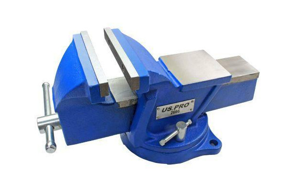 US PRO Tools 6 Heavy Duty Engineer Swivel Bench Vice Vise Clamp with Anvil 2666