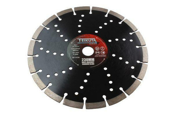 TEIKUTA 230 X 10 X 22.23MM Segmented Multi-Masonry Diamond Cutting Blade 9125