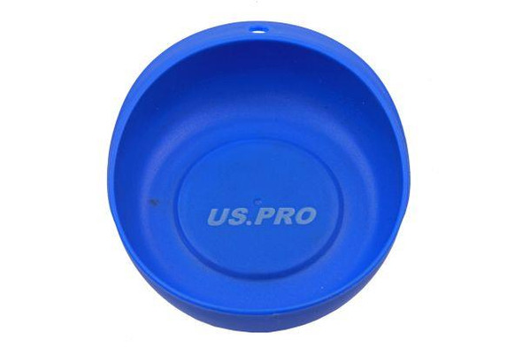 """US PRO Tools 4"""" Plastic Coated Circular Magnetic Parts Tray Dish Holder 6814"""