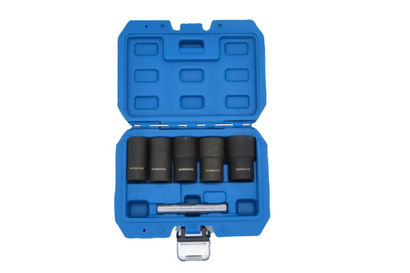 """Toolzone 6 Piece 1/2"""" DR Impact Twist Socket Set Damaged Nuts Bolts & Studs Removal SS228"""