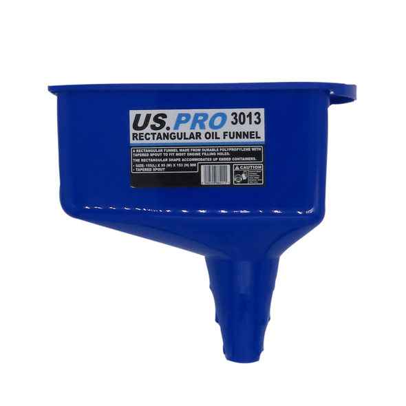 US PRO Rectangular Engine Oil Funnel with tapered spout Gearbox 3013