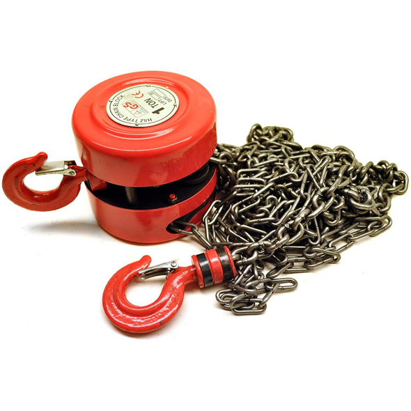 Toolzone 1 Ton Chain Block & Tackle Engine Lifting Hoist Pulley Winch TD050