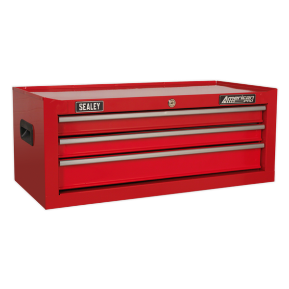 Sealey American Pro Mid-Box 3 Drawer with Ball-Bearing Slides - Red AP223