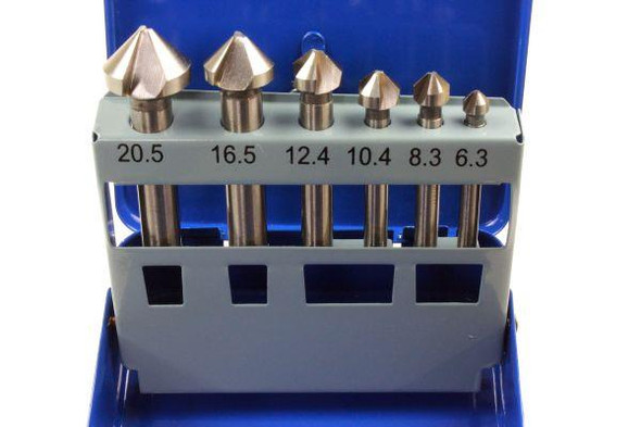 US PRO Tools 6pc Tapered Countersink HSS Drill Bit Set 6.3mm to 20.5mm 2638