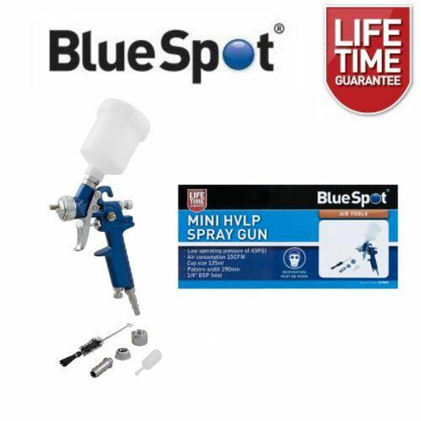 BlueSpot Mini HVLP Spray Gun 125ml 0.8mm Nozzle 07909