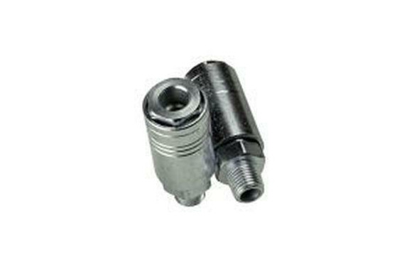 US PRO Tools 2 X 1/4 BSPT Male Air Coupler One Touch - Male Air Fittings 8185