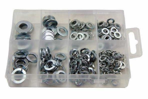 Resolut 210 Piece Assorted Spring and Flat Steel Washers 2952