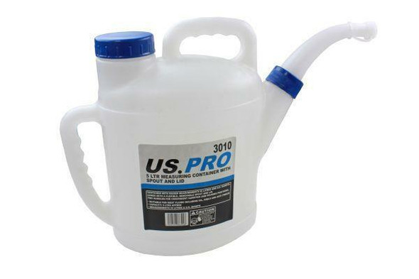 US PRO Tools 5 Liter Measuring Container With Spout And Lid 3010