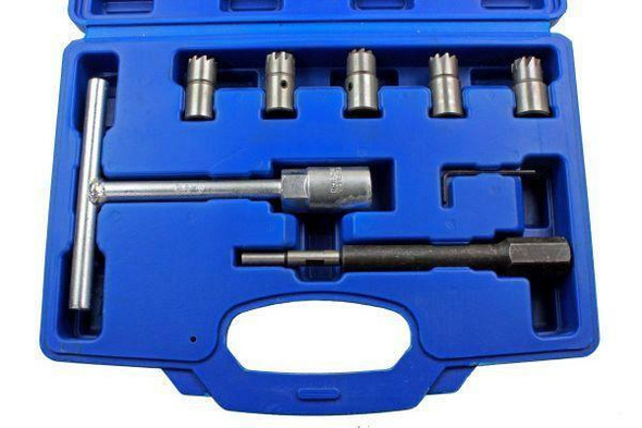 US PRO Tools 7pc Diesel Engine Injector Seat Cutter, Cutting Tool Pilot Key 5588