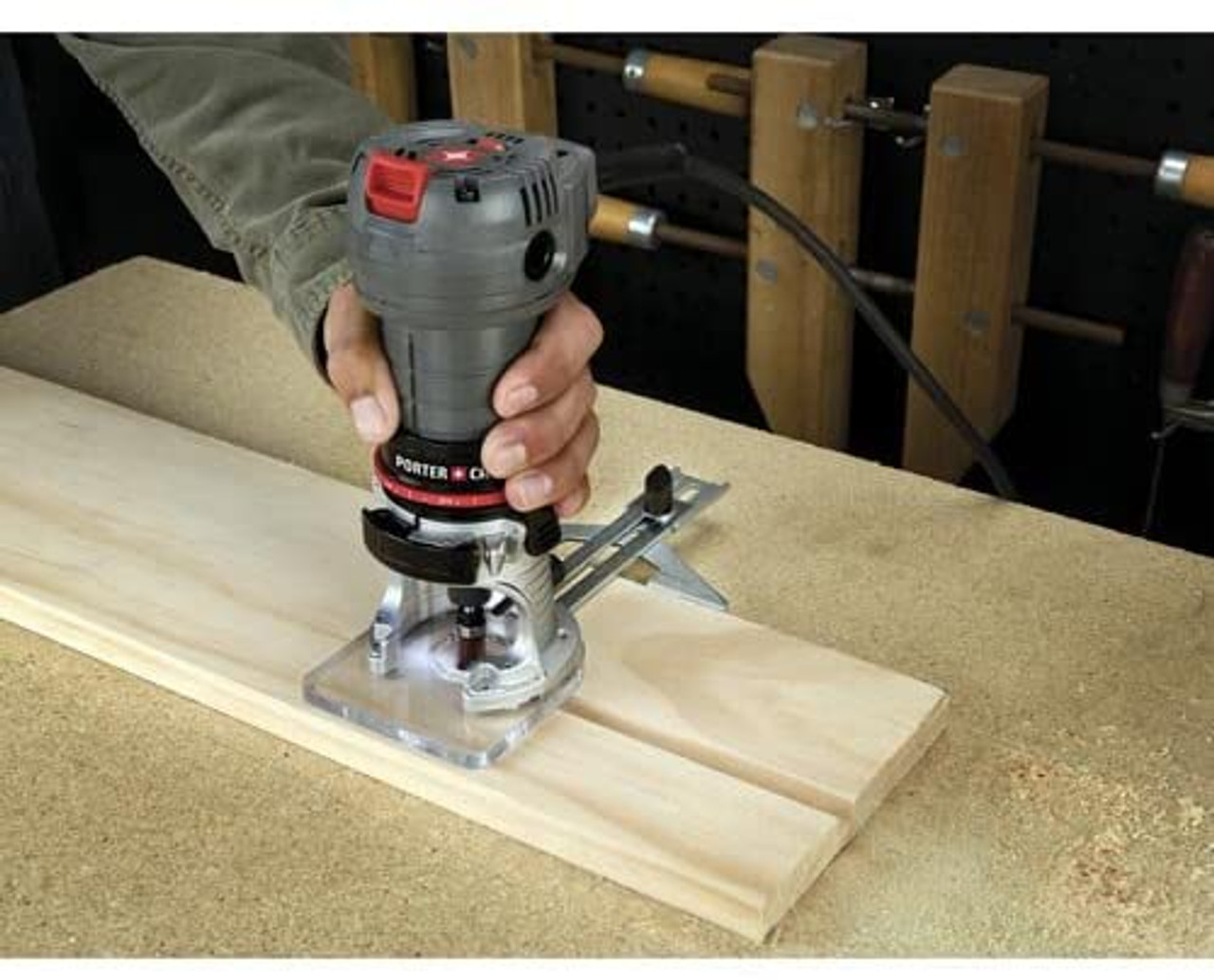 PORTER-CABLE PCE6430 4.5-Amp Single Speed 1/4-Inch Laminate Trimmer, Router