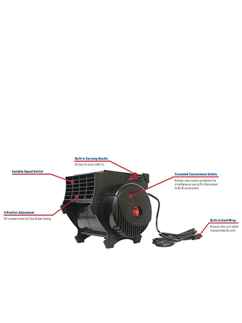 ATD Tools 1200 CFM, Variable Speed, Pro Air Blower