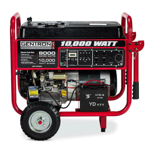 10000 Watt Gas Powered Portable Generator with Electric Push Start for Home Emergency Power Backup, RV Standby, Hurricane Storm Damage...
