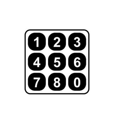 1/4 Inch Striking Numbers 0-9, 9 Pieces Set 42N6