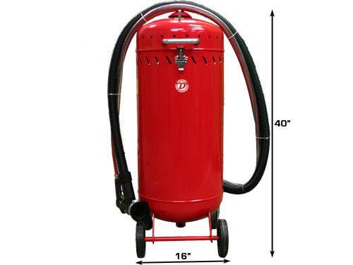 28 Gallon Roll Around Sandblaster With Vacuum