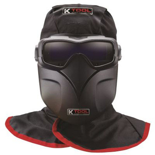 Auto Darkening Welding Goggles Kit w/ Fire Retardant Hood and Bump Cap, Goggles, Protective Sheild and Carrying Bag (KTI70046)