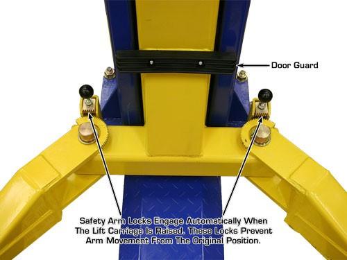 Baseplate 9,000 lbs. Capacity 2 Post Lift