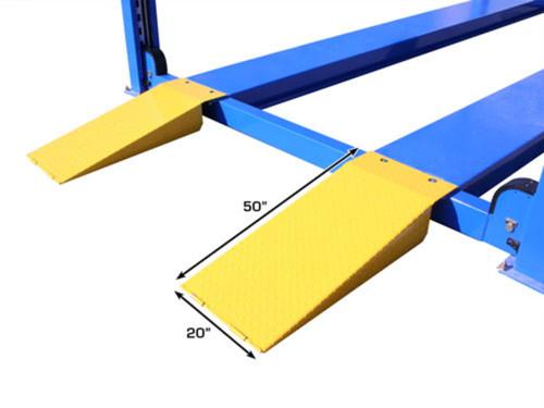 14,000 lb. Capacity Commercial Grade 4-Post Lift, 220 Volt, Ladder Lock