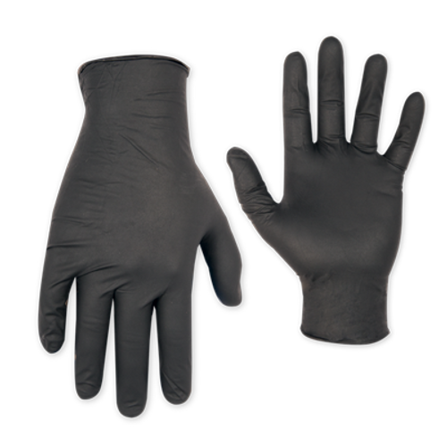Black Nitrile Disposable Gloves, Non powdered, 100/Box (Medium)