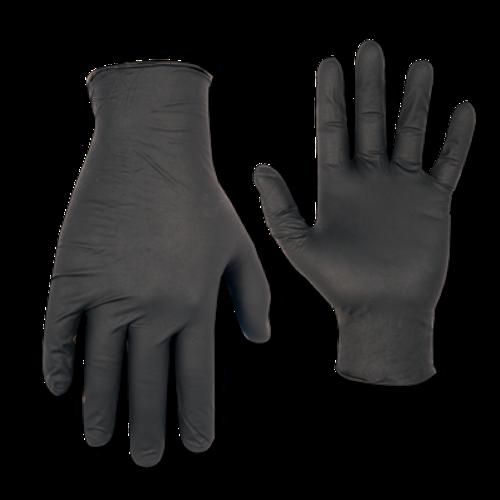 Black Nitrile Disposable Gloves, Non powdered, 100/Box (Large)(2337_XL)