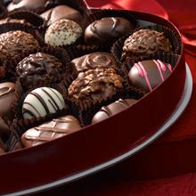 Assorted Chocolates Velvet Heart Box, 44 Piece