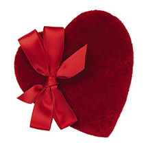 Assorted Chocolates Velvet Heart Box, 30 Piece