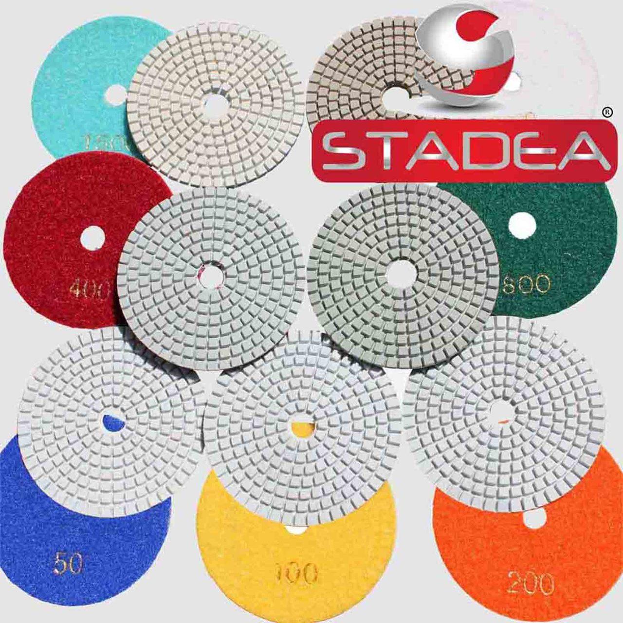 Diamond Polishing Pads Wet//Dry 10pcs 4 Inch Set Kit for Marble Concrete Granite
