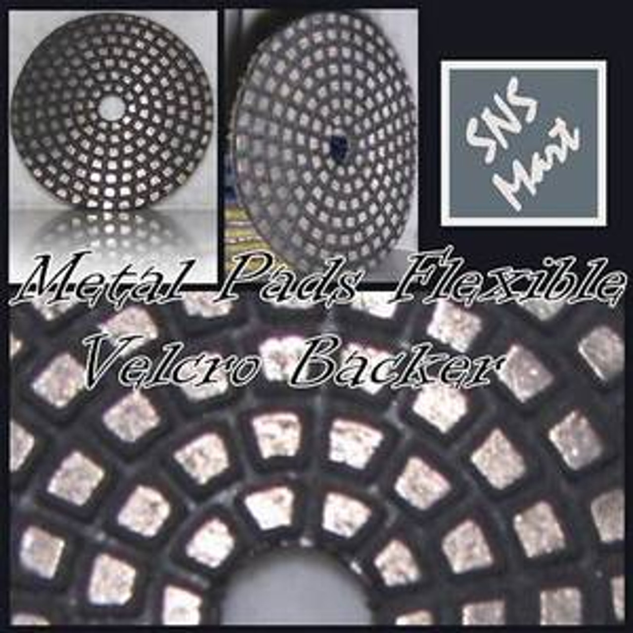 "4/"" PREMIUM DIAMOND POLISHING PAD GRANITE MARBLE 16+2SET"