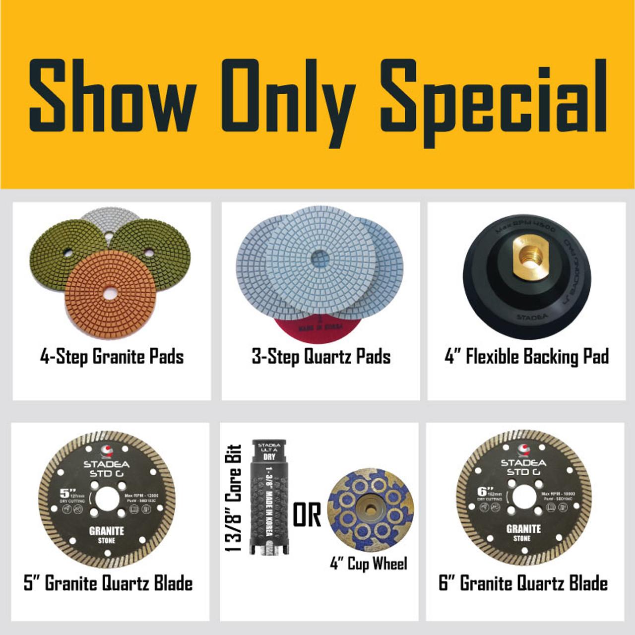 """1 3//8/"""" wet polishing grinding drum 5/"""" dry Polishing Pad cut blade stone concrete"""