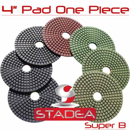 Stadea Diamond Polishing Pad 4 Inch For Granite Concrete Marble Stone Polishing, Series Super B