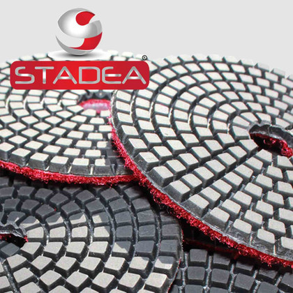 "Stadea Series Standard S 4"" Wet Diamond Polishing Pad Grit 50 100 200 400 800 1500 3000"