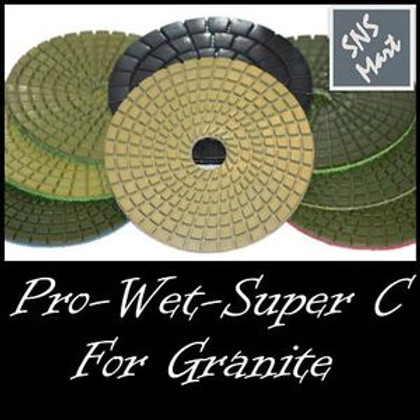"4"" SUPER PRO Diamond Polishing Pad Set Made For GRANITE"