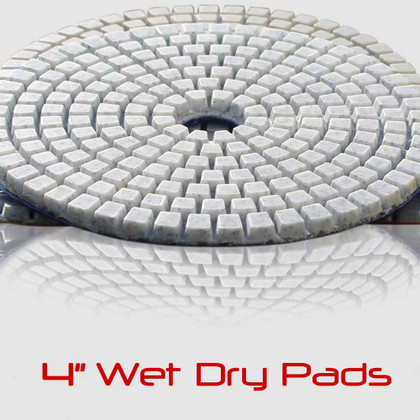 "4"" STADEA Wet/Dry Diamond Polishing Pads for Granite Marble Concrete Stone Travertine polishing - Any Grit"