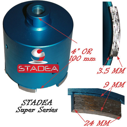 Granite Concrete Diamond core drill bits by Stadea - 65mm or 2 1/2""