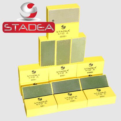 STADEA Diamond Hand Polishing Pads for Granite Concrete Stone Polishing - 7 Pcs Set