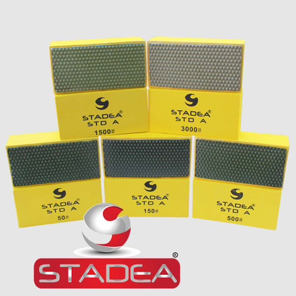 STADEA Diamond Polishing Hand Pads for Granite Concrete Stone Polishing - 5 Step Set