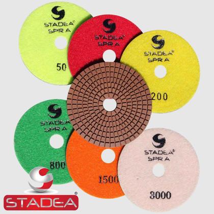 "STADEA SPR A 4"" Diamond Polishing Pad 8 Pieces Pads Set"