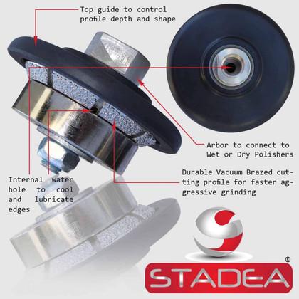 "Bevel Diamond Profile Wheel Grinding Wheel 5/8"" 11 - Image1"