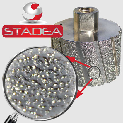 STADEA Diamond Grinding Drum Wheel Sanding Wheels Granite Concrete Stone, 2 Inch DDWW02STDA58001P