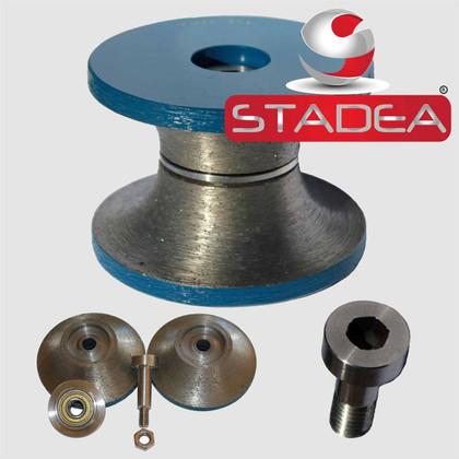 "STADEA Diamond Router Bits Granite Stone Full Bullnose Diamond Tipped Edge Profile Concrete Marble 1 1/2"" Grit 70"