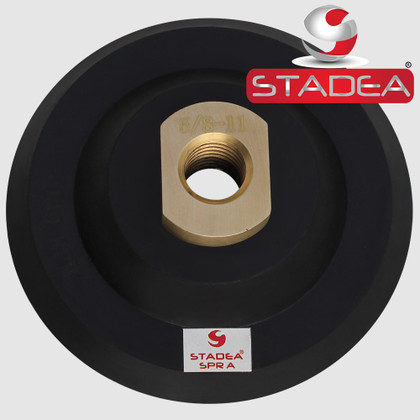 "4"" Hook and Loop Backing Pad Flexible Velcro Rubber Backing Backer Pads Arbor 5/8"" 11 by STADEA - Series Super A"