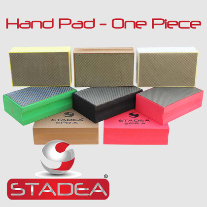 Stadea Diamond Hand Polishing Pad for Glass Marble Concrete Stone Travertine polishing, Any Grit 1 Piece