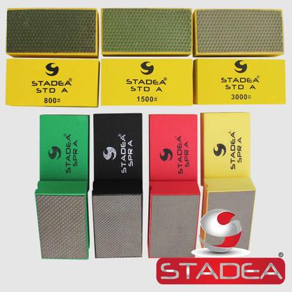 Stadea Diamond Hand Pads for Glass Marble Concrete Stone Polishing Sanding, 7 Pcs Set  Series Super A