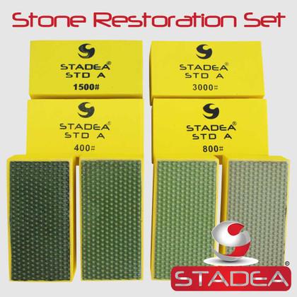 Marble Restoration Kit For Marble Tile Restoration Diamond Hand Polishing Pads Kit by Stadea