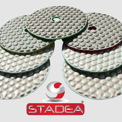 Stadea Dry Diamond Polishing Sanding Pad 4 Inch Disc Concrete Marble Granite Stone Polishing Series Standard A, 1 Piece