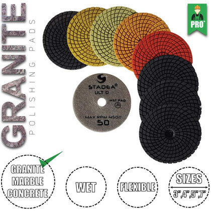 "Stadea 4"" Diamond Polishing Pad Set Granite Quartz Polishing Pad, Series Ultra D"